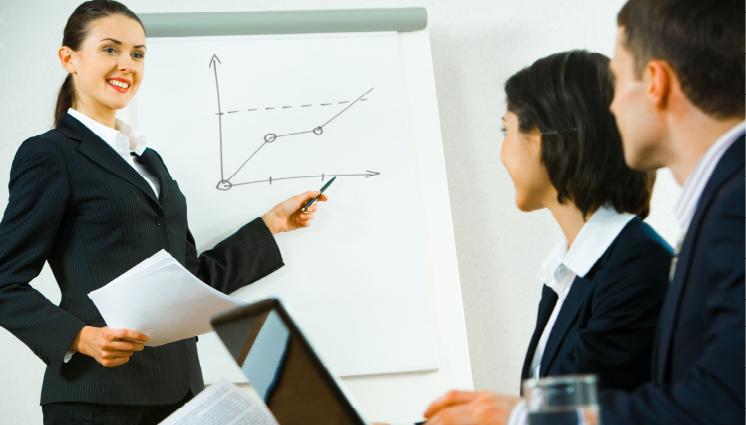 giving presentation
