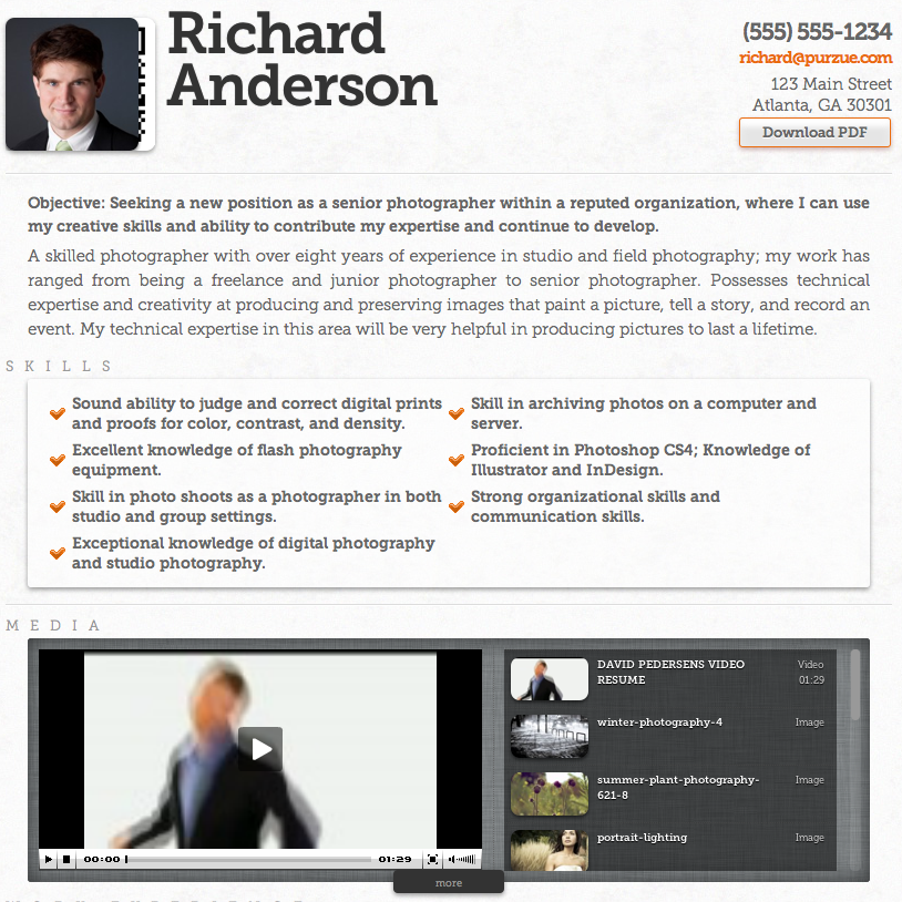 video resume Multimedia Resumes   4 Options that Work